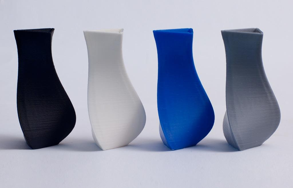 Vases printed in ABS